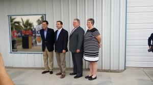 From L-R: Xavier Rivas Vice President of PIMSA, Mayor Douglas Nicholls, Timothy Schwiekert President, and Tracy Schultz vice president of operations.